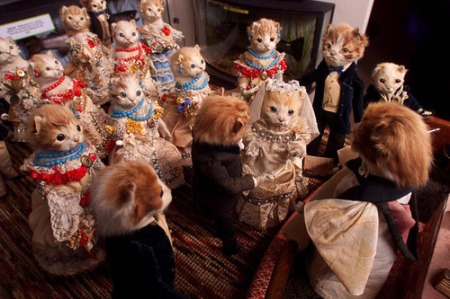 Taxidermy kittens during a marriage ceremony, by Walter Potter.