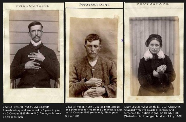 Examples of mug shots of people with distinctive hands.