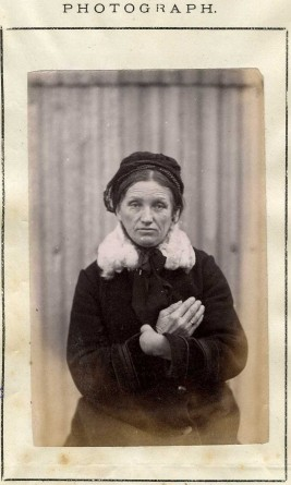 Mug shot of Mary Spanger, New Zealand criminal from 19th century