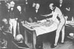 Robert Liston performs the first surgery with anaethesia in England, 1846.