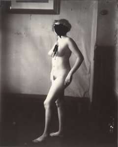 E.J.Bellocq photograph of Storyville prostitute with face scratched out