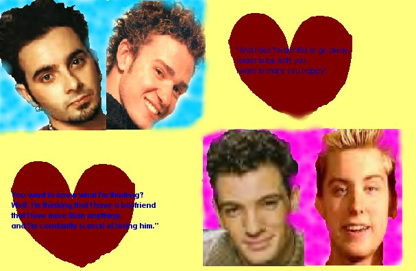 Internet Archaeology: 1990s graphic of NSync boy band.