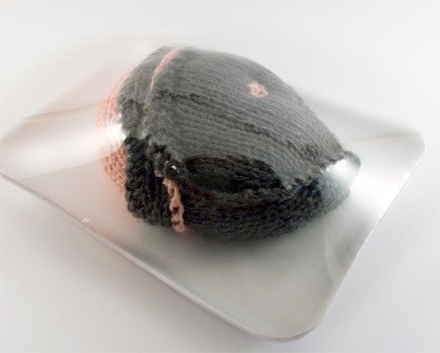 Stephanie Casper Knit Meat fish head