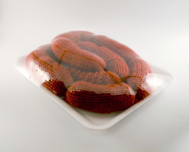 Stephanie Casper Knit Meat sausage links