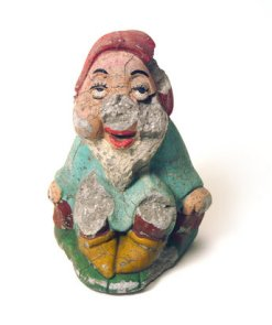 Broken ceramic dwarf.
