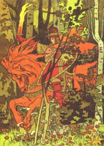 Illustration of Baba Yaga Red Horseman, by Ivan Bilibin.