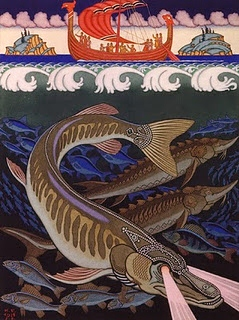 Illustration of pike by Ivan Bilibin.