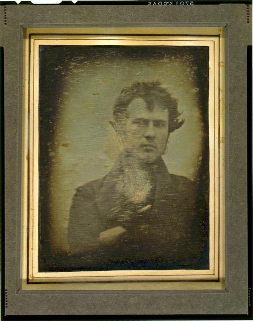 Robert Cornelius, the first photography self portrait.