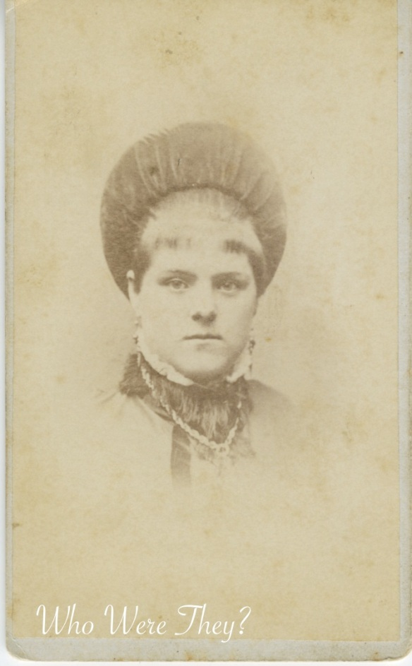 Mrs Marvel: Vintage photograph of woman wearing funny hat.