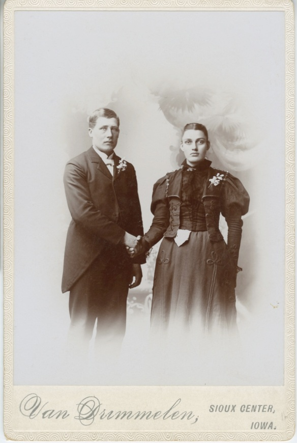Mrs Marvel: Vintage photograph of arranged marriage couple