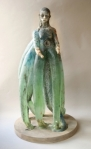 Christina Bothwell's translucent glass sculpture of girl with tentacles