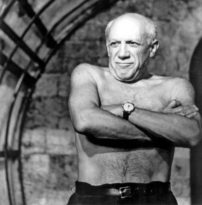 Picasso without his shirt on