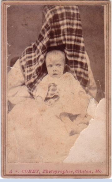 Hidden mother in unsettling Victorian photograph c1870