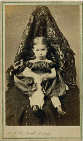 Hidden mother in unsettling Victorian photograph ca 1870