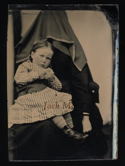 Hidden mother in unsettling Victorian photograph 1870s