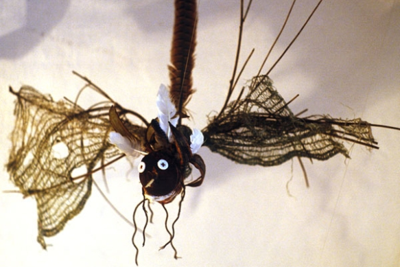 Tila Rodriguez-Past: little monsters made of things collected from a monastery.