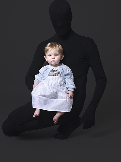 Anuschka Blommers and Niels Schumm kidswear that looks like hidden mother in Victorian photography.