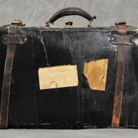 Abandoned suitcases of insane asylum patients