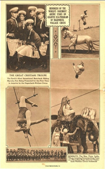 Photographs of acrobats.