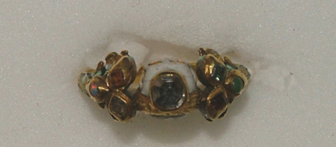 17th century memento mori ring viewed from the top