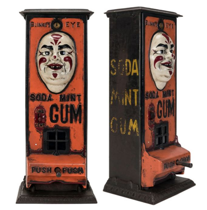Painted version of the Blinkey Eye Soda Mint Gum machine